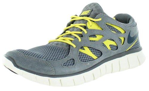 Nike Free Run 2537732007, Scarpe Moda Uomo, grigio (Grigio/Giallo), 46
