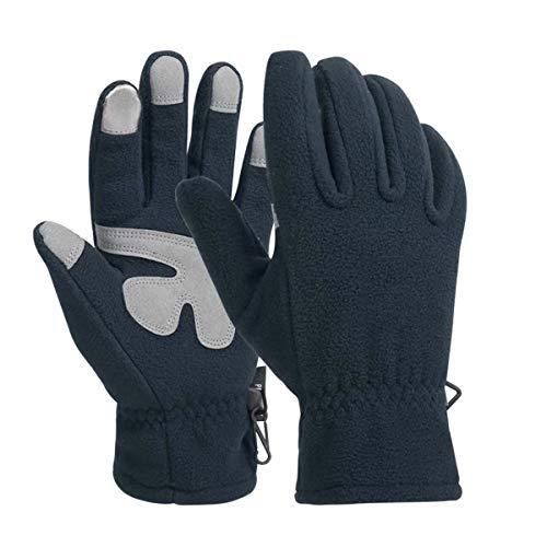 ZN-Home-Gloves Gants d'hiver Écran Tactile Doublure Thermique Coupe-Vent Gants de Mouvement Cyclisme en Plein air Conduite Antidérapant La flexibilité Manchette Touchez Gants d'écran