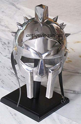 Shiv Shakti Enterprises Helm Gladiator Griechisch Mittelalter Vintage mit Holzhelm