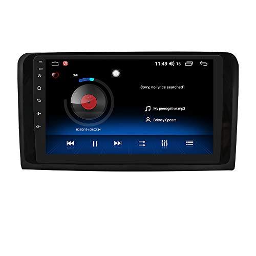 Android 10 Car Radio Stereo con Sistema de Pantalla táctil de 9 Pulgadas para Benz ML-Class W164 (2005-2012) y GL-Class X164 (2005-2012), Compatible con navegación GPS Bluetooth WiFi EQ USB SWC