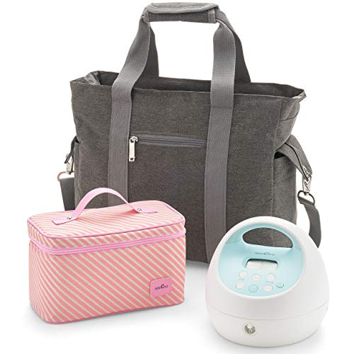Spectra - S1 Plus Electric Breast Milk Pump with Tote Bag, Bottles and Cooler for Baby Feeding