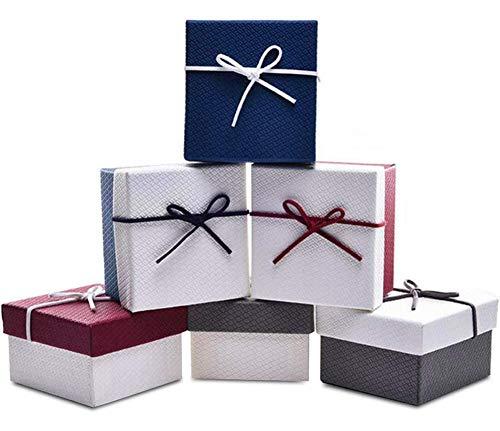 Cajas de Regalo - WENTS 12 pcs Joyero Organizadores Cajas de Regalo de Almacenamiento Cajas de Cartón Kraft para Joyeria de Boda Cumpleaños Fiesta Pendiente Pulsera Collar 5,5 x 5 x 4,6cm