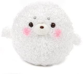 Amuse 252588C White Seal Marugoma Marukoro Pen Chan Furry Standard Plush, 4.25