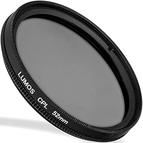 LUMOS zirkular Polfilter 52mm - lichtdurchlässiges Glas - Metallfassung im schlanken Slim Design - Premium CPL Polarisationsfilter 52 mm