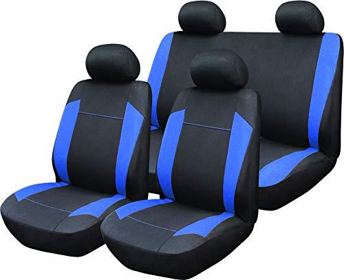 2 X frentes Resistente Negro Resistente Al Agua Fundas De Asiento De Coche Airbag Amistoso