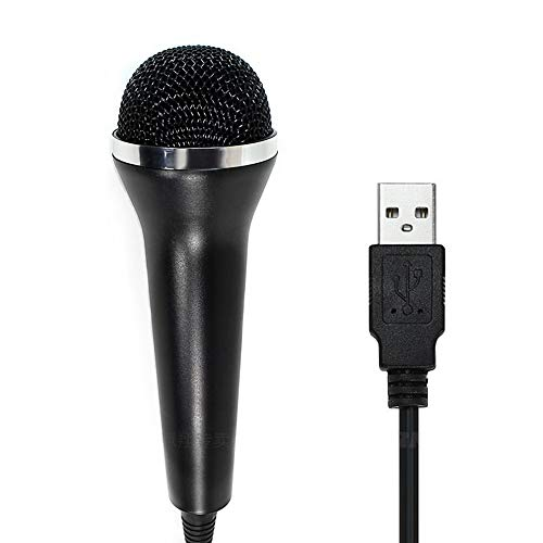 PDAPTMAG 2M 7FT Wired USB Microphone for Rock Band, Guitar Hero, Let's Sing, Compatible with Sony PS2, PS3, PS4, Nintendo Switch, Wii, Wii U, Microsoft Xbox 360, Xbox One and PC