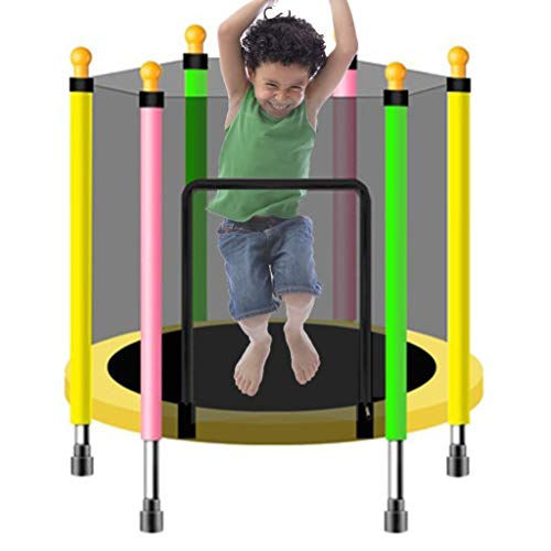 LXXTI Kids Trampoline Outdoor Small, Trampoline Combo Bounce Jump Trampoline for Kids Outdoor, Trampoline with Safety Enclosure Net Spring Pad,110cm/43inch