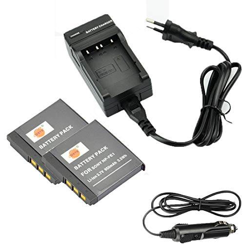 DSTE 2-Pieza Repuesto Batería y DC02E Viaje Cargador kit para Sony NP-FE1 Cyber-shot DSC-T7 DSC-T7/b DSC-T7/S DSC-P2 DSC-P3 DSC-P5 DSC-P9 DSC-P7 DSC-P10