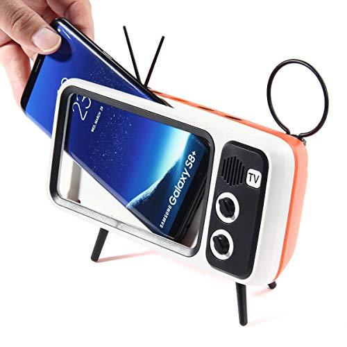 KOBWA Retro TV BT Speaker, Portable BT Speaker with Phone Stand Holder, 3D Stereo Sound Quality