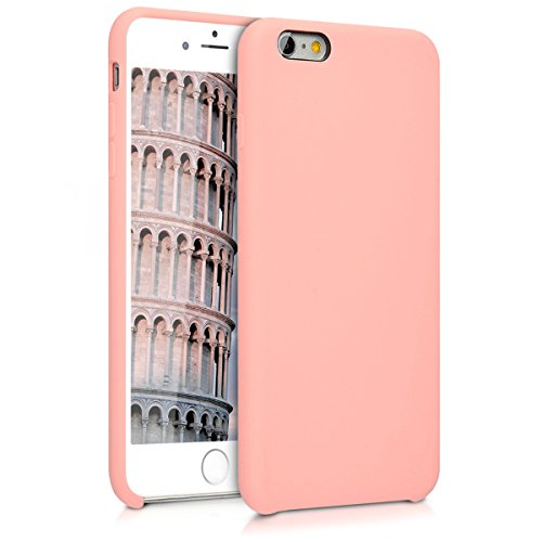 kwmobile Hülle kompatibel mit Apple iPhone 6 Plus / 6S Plus - Handyhülle gummiert - Handy Case in Rosegold