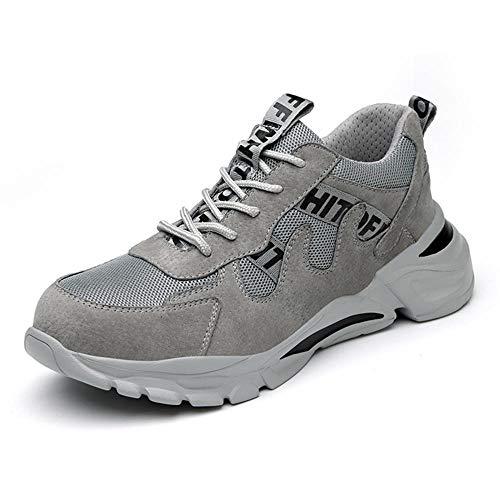 Zapato de Seguridad Hombre,Adecuado para el hogar, el Trabajo, la Industria, la construcción, el Restaurante, el almacén, la Cocina, el jardín, etc.