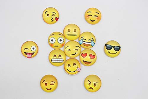 kamiustore 10 Calamite per Frigorifero a Forma di Emoji - Magneti 3D per frigo Smile Set da 10 faccine