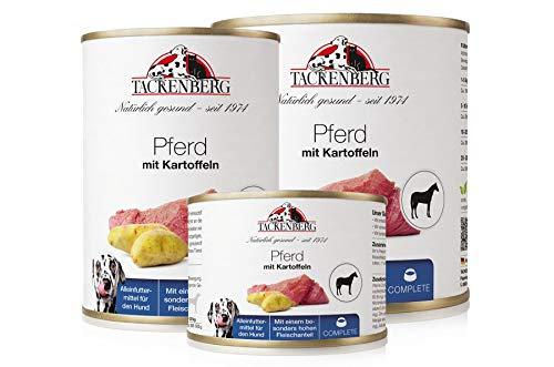 Tackenberg Hundefutter, Nassfutter für Hunde (Pferd + Kartoffeln), getreidefrei, Premium Dosenfutter