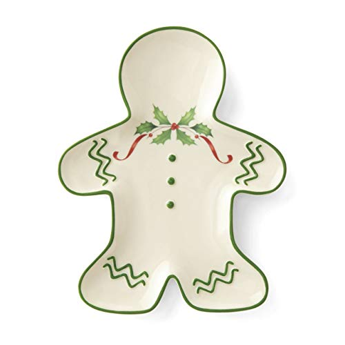 Lenox Holiday Gingerbread Man Accent Plate