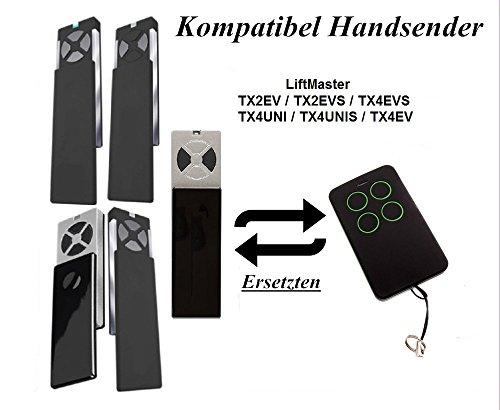 Liftmaster Universal Garagentor Fernbedienung Handsender Geeignet für TX2EV/TX4EV/TX2EVS/TX4EVS/TX4UNI/TX4UNIS, Kompatibel Ersatz sender, 433.92 mhz Rolling Code