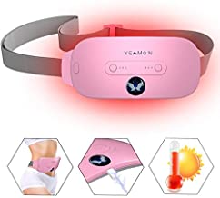 Portable Cordless Heating Pad, Electric Waist Belt Device, Fast Heating Pad with 3 Heat Levels and 3 Vibration Massage Modes, Back or Belly Heating Pad for Women and Girl