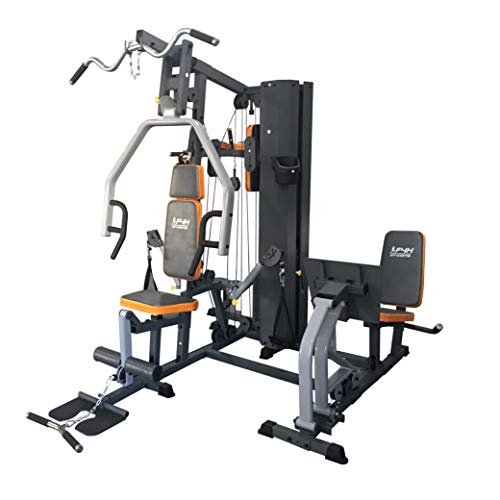 FIT4HOME Home Gym Equipment With Lat Pulldown Bar Dip Station Multi Gym Strength Training Fitness Cable Crossover Machine Workout Chest Press 80KG Weight Plates | TF3003C Black
