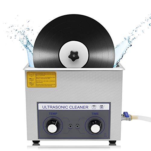 CGOLDENWALL180Wレコード洗浄機超音波 6LLP盤レコードクリーナー 自動回転装置付き 両面同時清浄 時間温度調節可 最大4枚設置 乾燥用LP立て付きPS-30 (電源AC100-120V/60Hz)