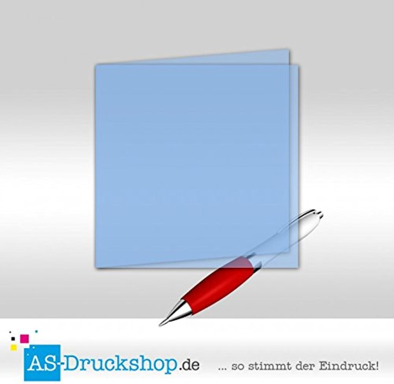 Faltkarte aus Transparentpapier - Hellblau 50 Stück Quadratisch 157 x 157 mm B0794Y2Z2R   | Hohe Qualität und günstig