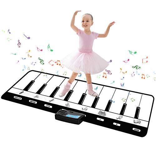 TWFRIC Tanzmatte für Kinder, Kinder Klaviermatte Musikmatte Musik Matte Spielteppich Spielzeug