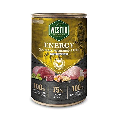 Westho 6 x Energy 400g (mit 75% Black Angus Rind & Pute)