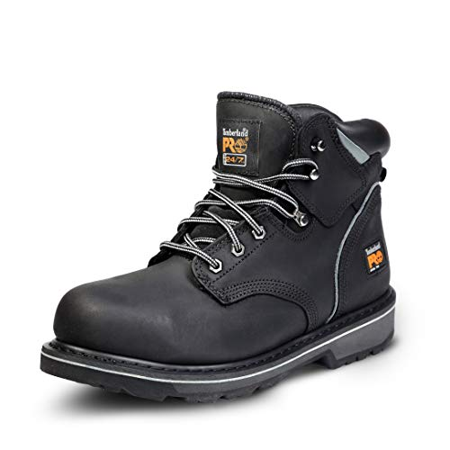 Timberland PRO Men's Pitboss 6' Steel-Toe Boot, Black , 9 EE...