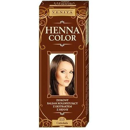 Henna Color 115 Chocolate Bálsamo Capilar Tinte Para Cabello Efecto De Color Tinte De Pelo Natural Gallina Eco
