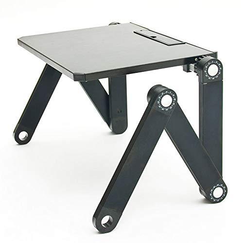 Zhanghaidong Portable Laptop Stand Höhenverstellbare Halter Runde Schreibtisch Tray Riser Standing Desk Converter Für Bett Tisch Sofa Schwarz Steht