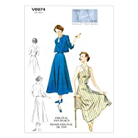 【vogue patterns】40年代デザイン ヴィンテージヴォーグ ジャケット・ワンピース・ベルトの型紙セット サイズ:US6-8-10-12-14 *8974