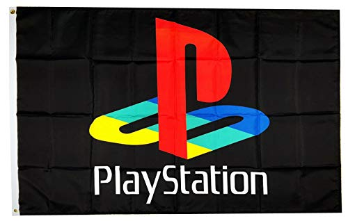 APFoo Playstation Video Game Gaming PS Flag Banner Size 3X5 Feet Man Cave Decor