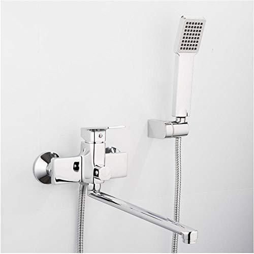 Zglizty Neue Badewanne Duscharmatur Mit Ablaufrohr Badarmaturen Wasser Mischbatterie Mit Square Handbrause