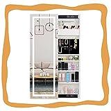 Cuerpo Inteligente Inteligente Smart Mirror Home Porche Montado En La Pared Vestido Espejo Espejo Espejo De Piso con Gabinete De Almacenamiento De Joyería Incorporado, 120X40x10cm,Push Left