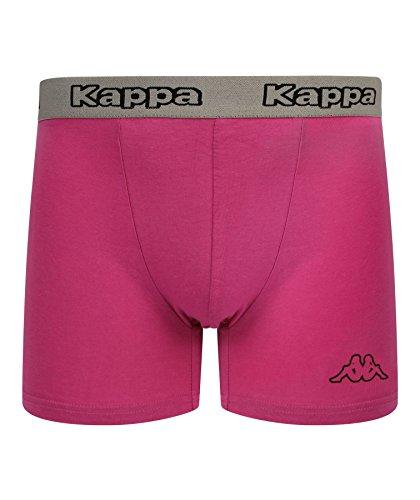 Kappa - Boxer da uomo, 2 paia, taglia L, colore: Grigio/Rosa