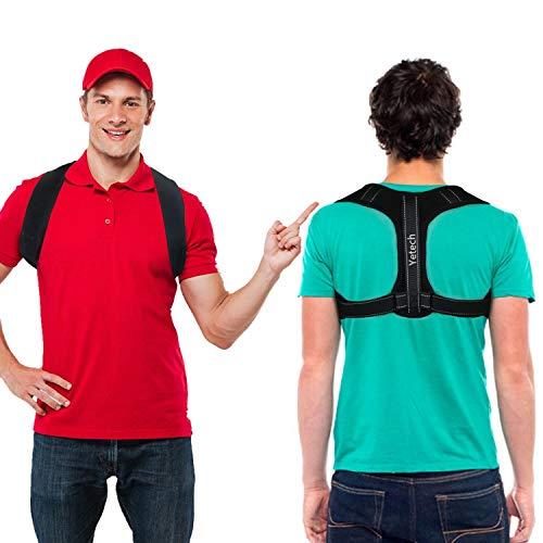 Yetech Corrector de Postura Soporte Espinal - Faja Postural Ajustable para Hombres y Mujeres – Alivio del dolor en cuello, hombros y espalda - Entrenador Postural