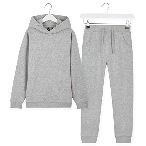 CityComfort Tracksuit For Girls Hoodies And Joggers For Kids 3 14 Years Light Grey 7 8 Years
