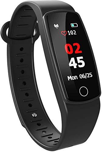 Rastreador de ejercicios HR Paso contador de calorías de color resistente al agua de la frecuencia cardíaca seguimiento de la conducta, la presión arterial, monitores de oxígeno en la sangre duermen i