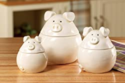 Pig Canisters for the Kitchen
