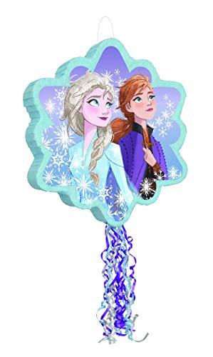 Tischdecke für 8 Kinder Nordlicht Frozen Eiskönigin Anna /& Elsa 37tlg Partyset
