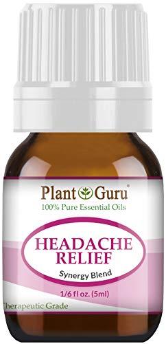 Headache Relief Essential Oil Blend (Migraine) 5 ml 100% Pure, Undiluted, Therapeutic Grade. (Blend of: Lavender Dalmatia, Peppermint, Wintergreen, Frankincense, Marjoram, Rosemary)