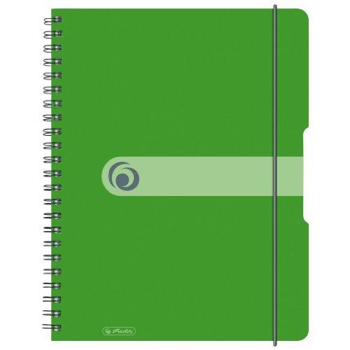 Herlitz 11293099 Spiralblock A4 to go, Holzfreies Papier, 80 Blatt, grün