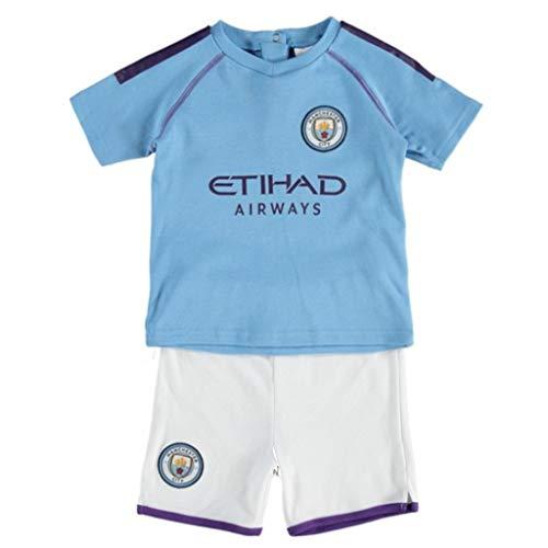 Brecrest Official Manchester City FC Ensemble t-shirt et short pour bébé – Modèle domicile 2019/20 (18–23 mois)