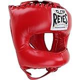 CLETO REYES MinotaurFightStore - Protector de cabeza de boxeo tradicional puntiagudo de nailon, color rojo
