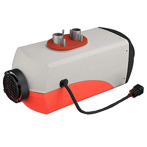 YAJIWU Descongelador de calentador de coche, 12 V, 8 kW, parte inferior gris, cubierta roja, versión LCD azul, calentador de coche portátil con control eliminado