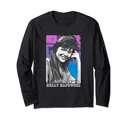 Unisex Save By Kelly Kapowski Face Close-Up Long Sleeve T-shirt in 4 Colors