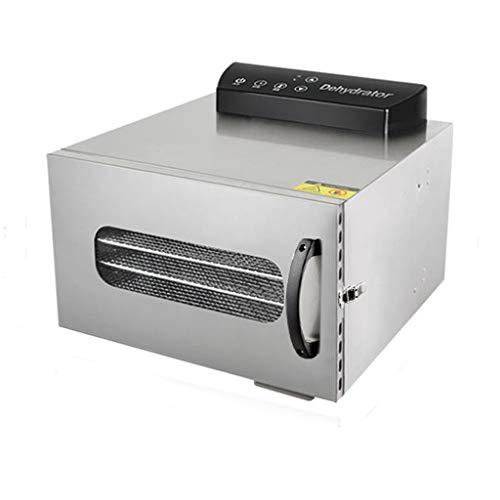 Dörraautomat rostfritt stål frukttorkare mini fruktskiva dörr 6-lagers torkskål temperatur Timer Control silver