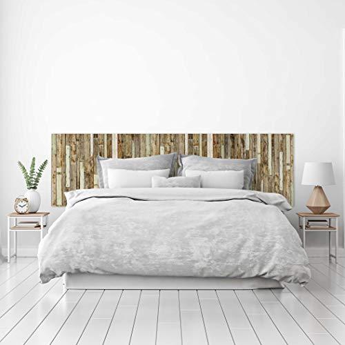 MEGADECOR Cabecero Cama PVC Decorativo Económico Textura Madera Tablas Viejas Unidas Varios Tamaños (150 cm x 60 cm)