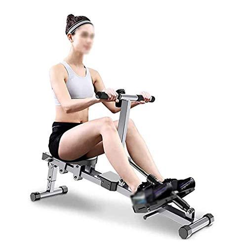 Unbekannt Verstellbares Faltbares Rudergerät, Rudergerät Innenraum Gewichtsverlust Und Muskelaufbauendes Bauchmuskeltraining Fitnessgeräte (Größe: 142 * 30 * 48 cm)