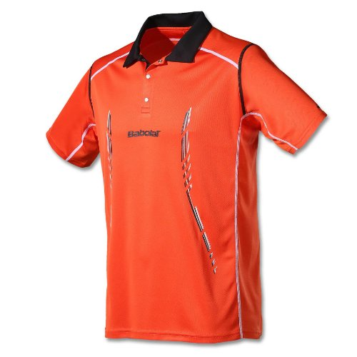 Babolat - Tennis-Poloshirts für Herren in orange, Größe L