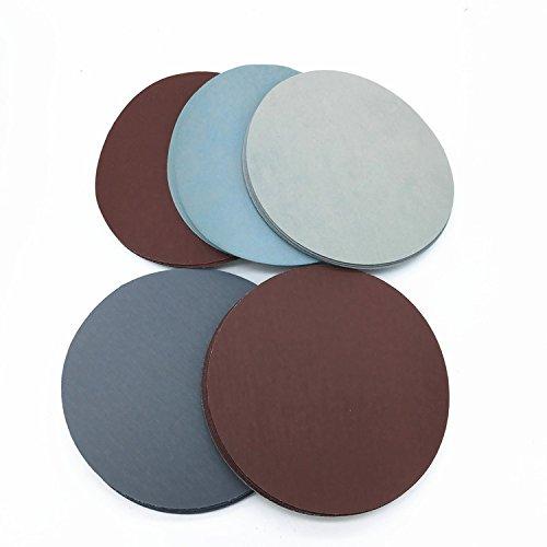 30ps 125mm / 5 '' Zoll Grit 1000/1500/2000/3000/5000/7000 Schleifscheiben Haken Schleife Sandpapier Runde Sandpapier Scheibe Sand Blatt Brand- CAIMEI SANDER