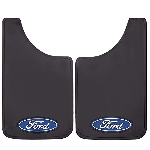 """Plasticolor 000506R01 Ford Oval Logo Easy Fit Mud Guard 11"""" - Set of 2"""